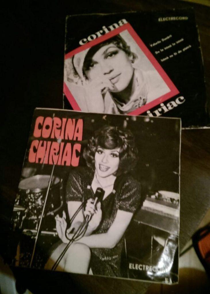 2 coperti single vinil Corina Chiriac, Electrecord (anii 1970)