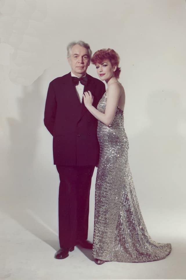 Compozitorul Mircea Chiriac împreună cu fiica sa, Corina Chiriac (1983)