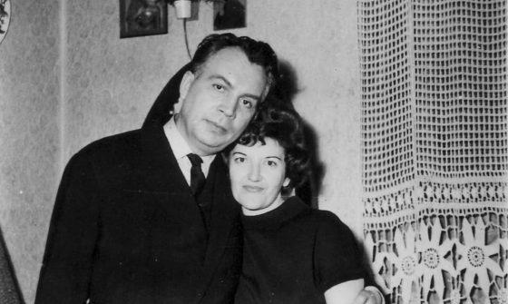 Compozitorul Mircea Chiriac împreună cu soția sa, Elisabeta (1970)