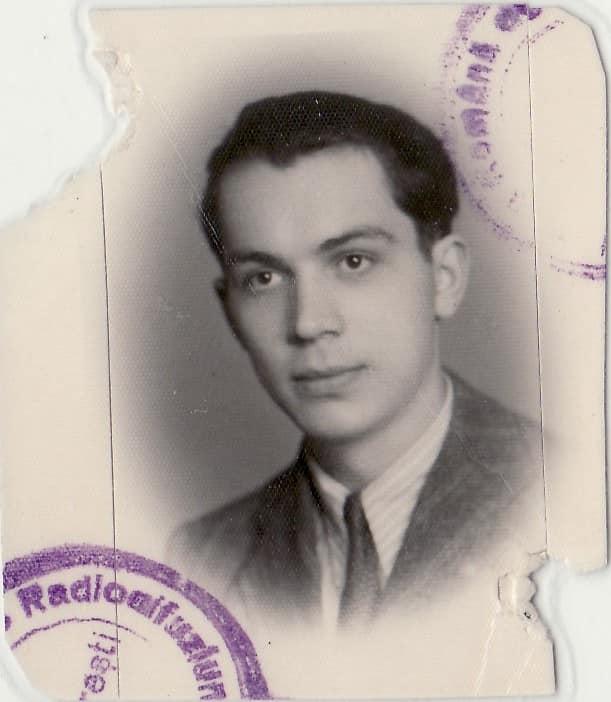 Compozitorul Mircea Chiriac tânăr - legitimație de dirijor al Radiodifuziunii Române