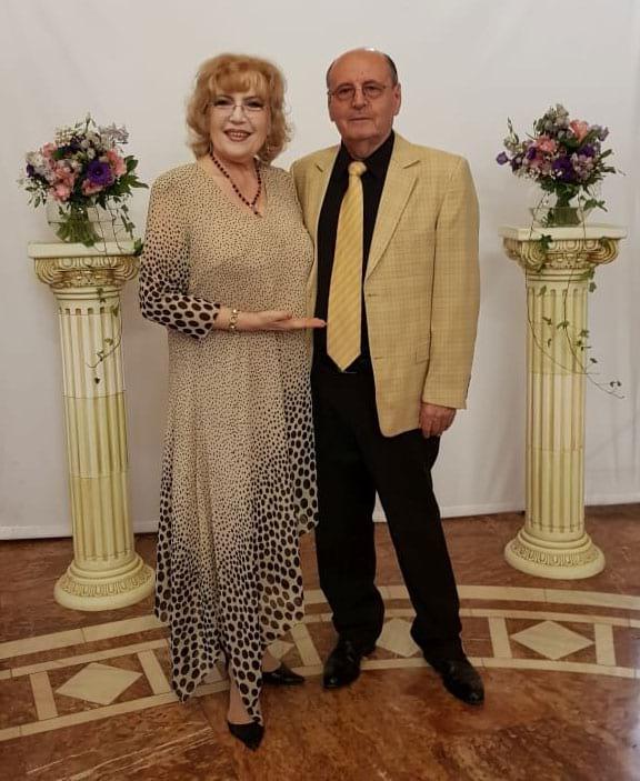 Corina Chiriac cu doctorul și scriitorul Constantin Dumitru Dulcan