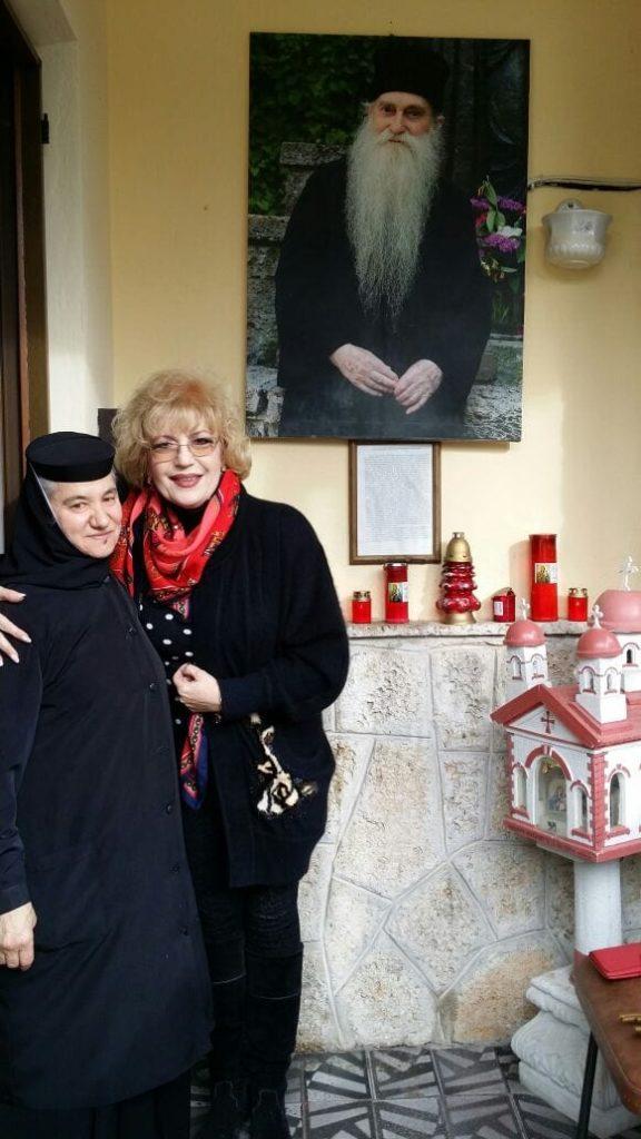 Corina Chiriac cu Maica Fevronia la chilia parintelui Arsenie Papacioc, Techirghiol