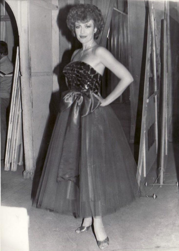 Corina Chiriac în culise la Teatrul de Vara Mamaia (1983)