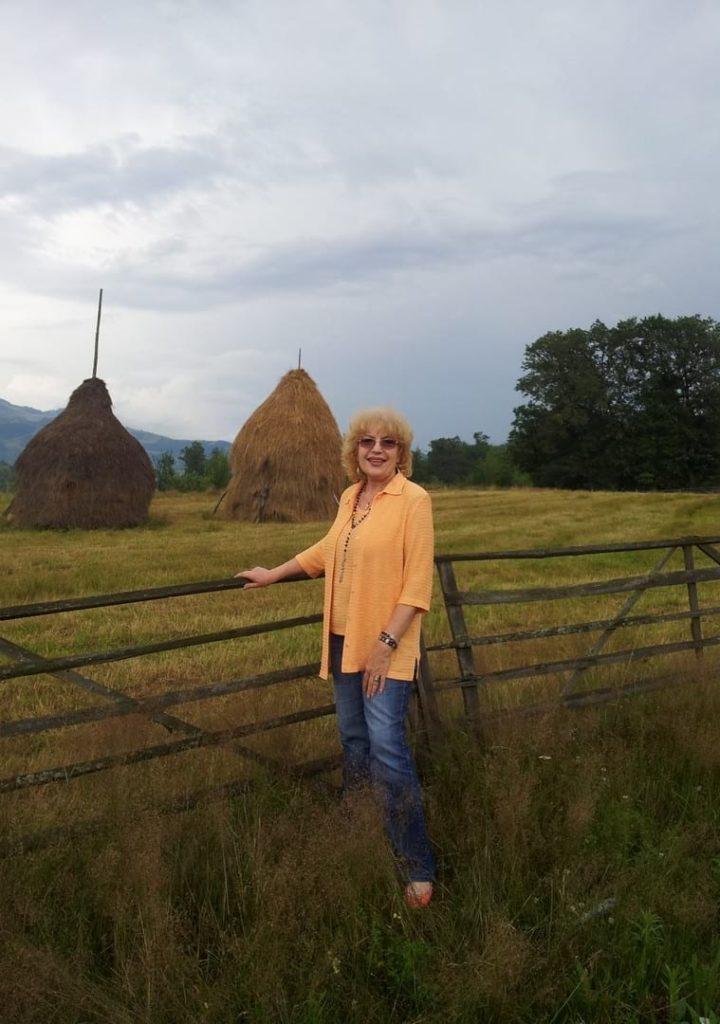Corina Chiriac în nordul Moldovei - arhiva personală