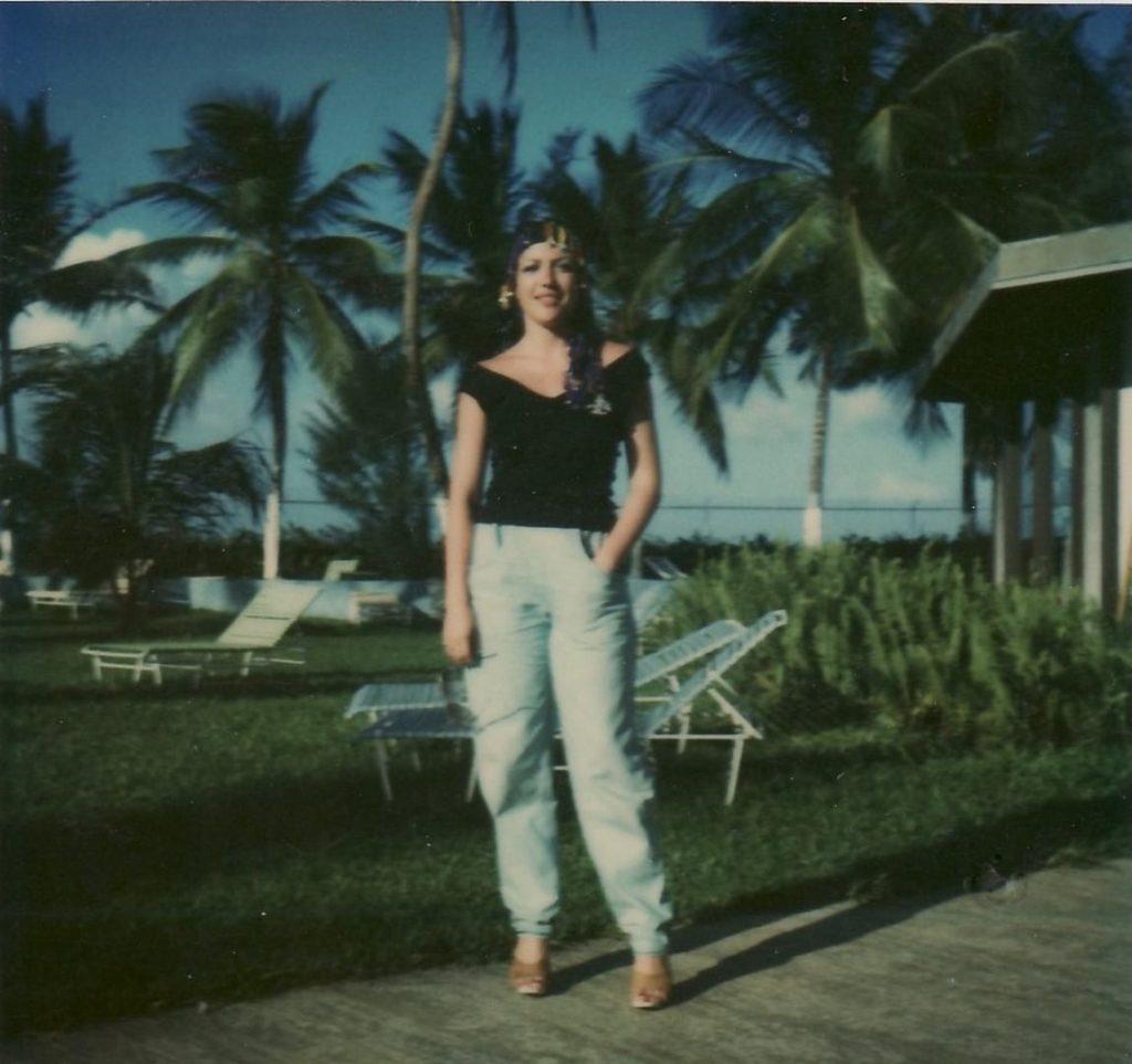 Corina Chiriac în Puerto Rico, USA (anii 1980)