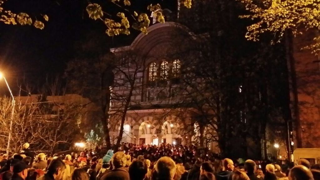 Corina Chiriac seară de Înviere la Biserica Sfântul Elefterie, București