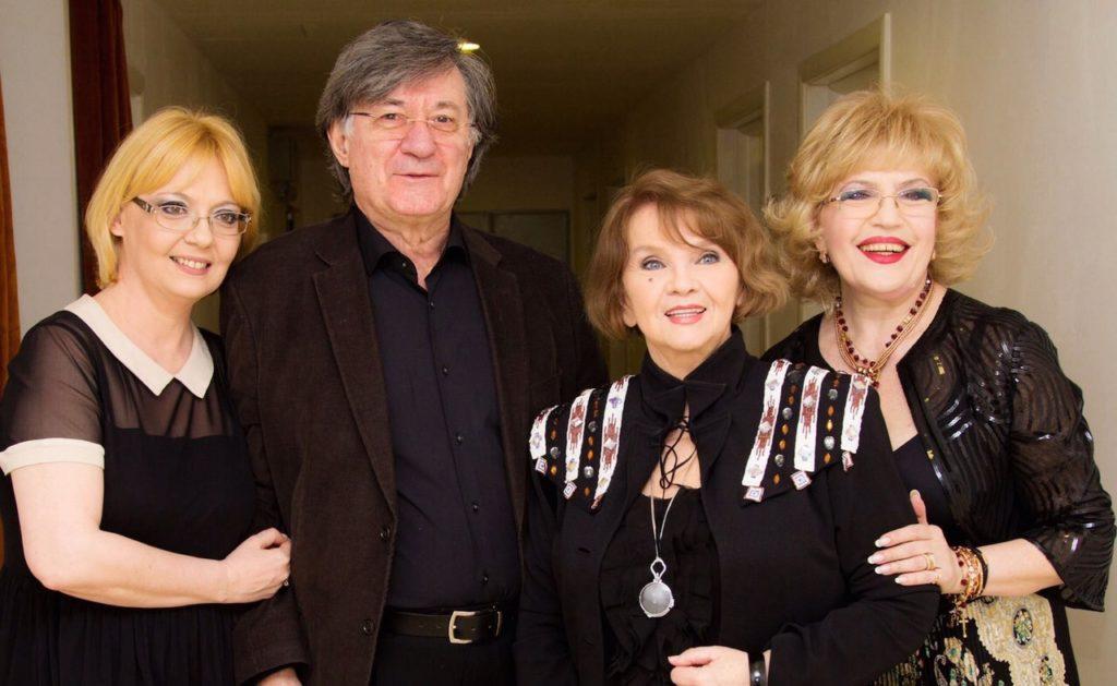 Corina Chiriac cu Margareta Paslaru, Emilia Popescu și Ion Caramitru