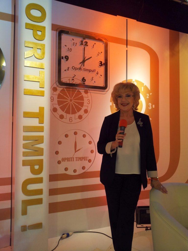 "Corina Chiriac pe platoul emisiunii ""Opriți timpul"""