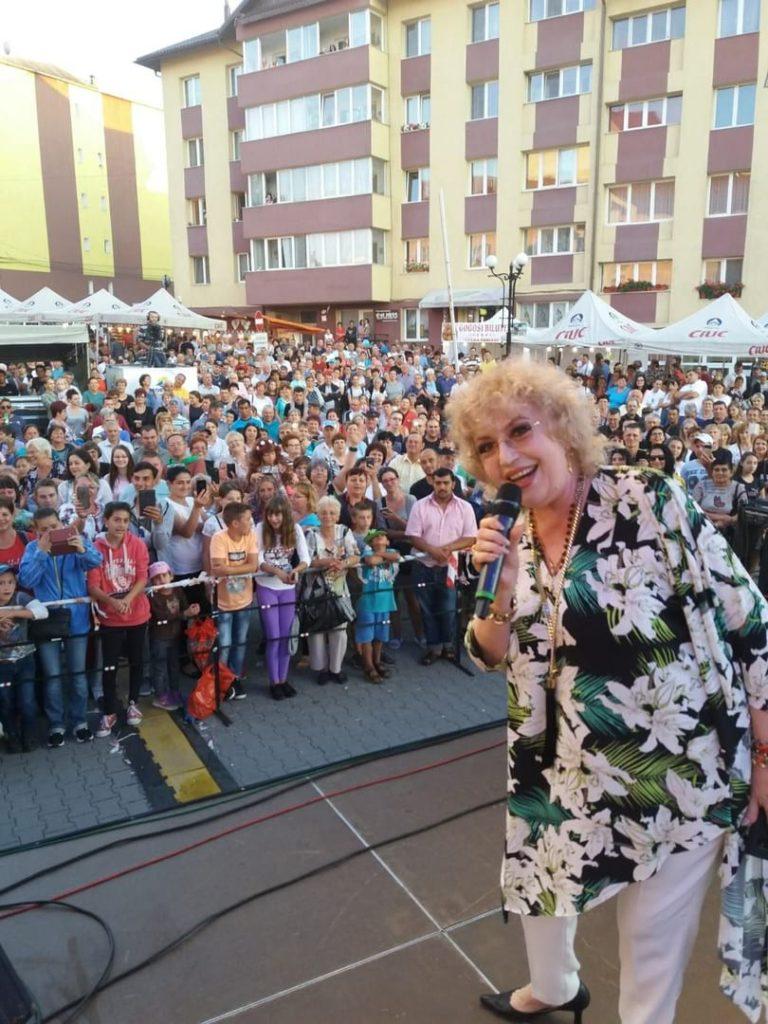 Corina Chiriac pe scena zilelor orașului Toplița 2018