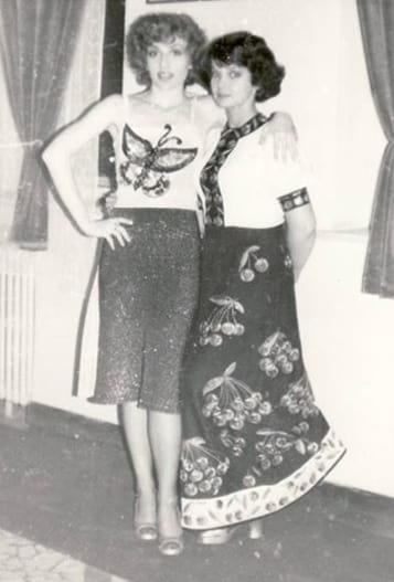 Corina Chiriac cu Margareta Pislaru prin 1972