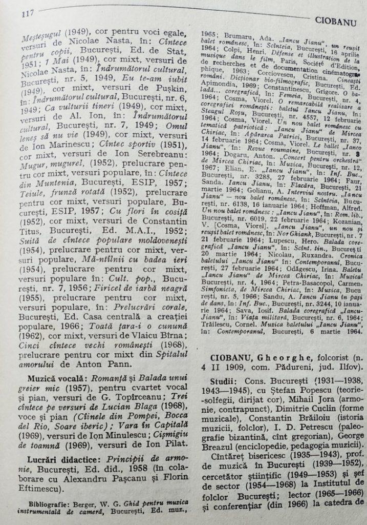 """Descrierea lui Mircea Chiriac din cartea """"Muzicieni români - lexicon"""" de Viorel Cosma (pag 2)"""
