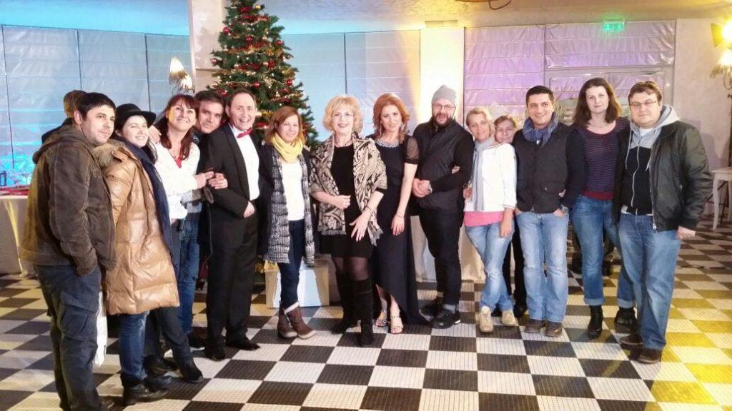 Echipa Național TV după filmare