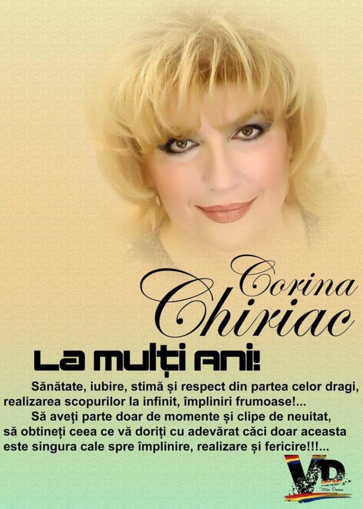 """Felicitare de """"La mulți ani"""" primită de Corina Chiriac de la un admirator"""