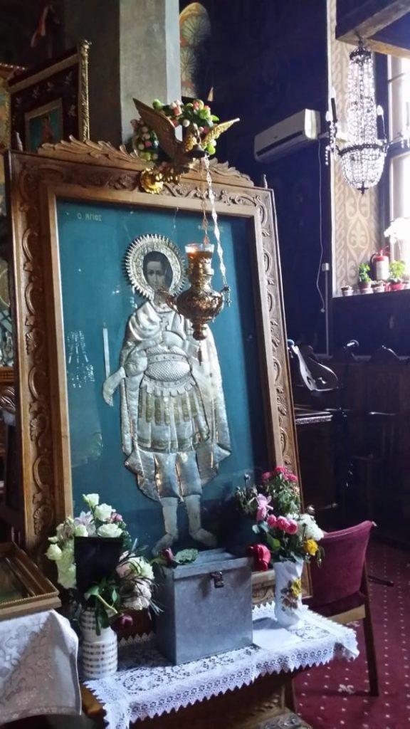 Icoana în argint a Sfântului Fanurie, Biserica greacă din Constanța