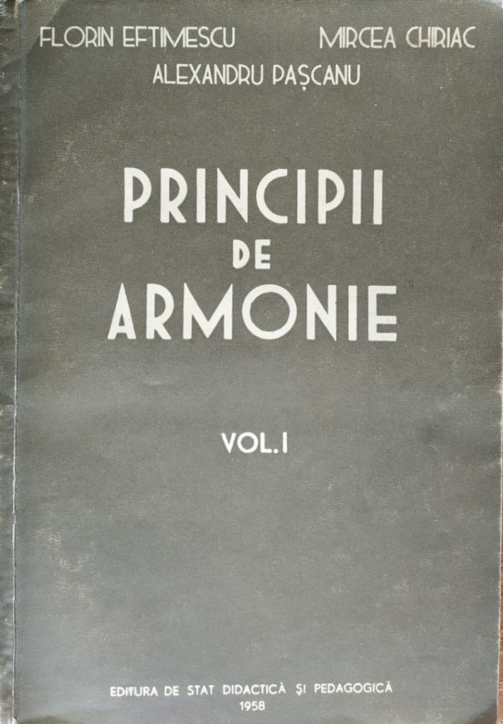Principii de armonie - Florin Eftimescu, Mircea Chiriac, Alexandru Pascanu